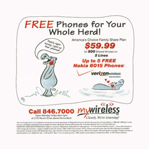 MyWireless Newspaper Ad